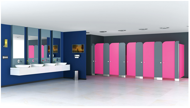 Vibrance Restroom Cubicles with Greenlam Industries
